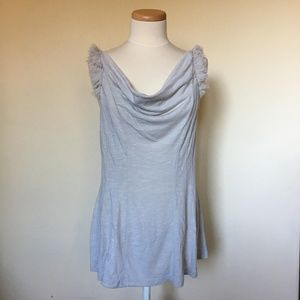 Anthropologie Deletta Gray First Flight Tee (L)